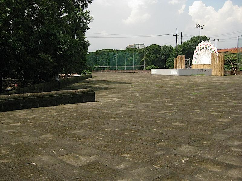 the wide walls of Intramuros