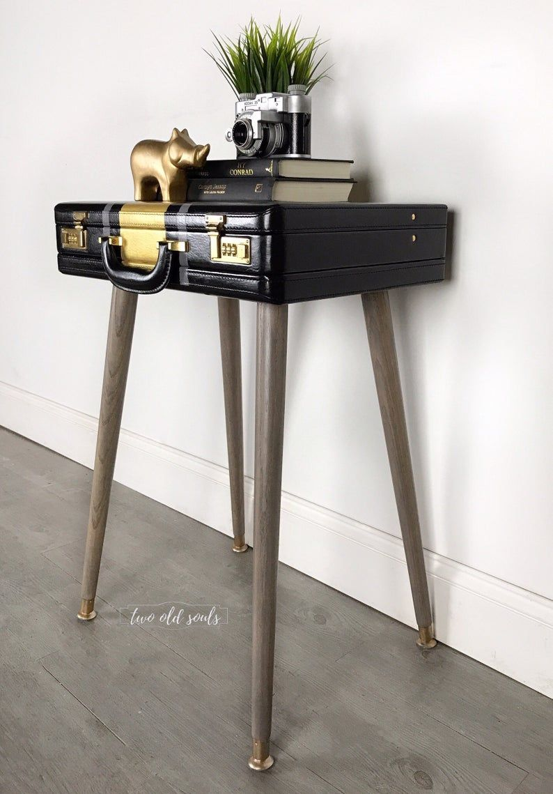 A Briefcase Bedside Table