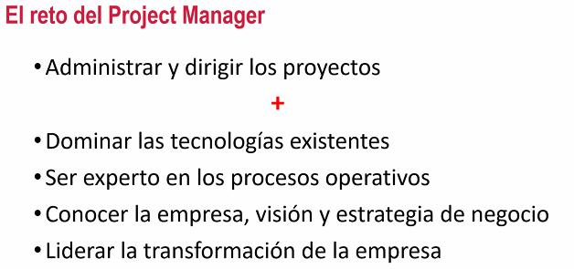 El reto del Project Manager
