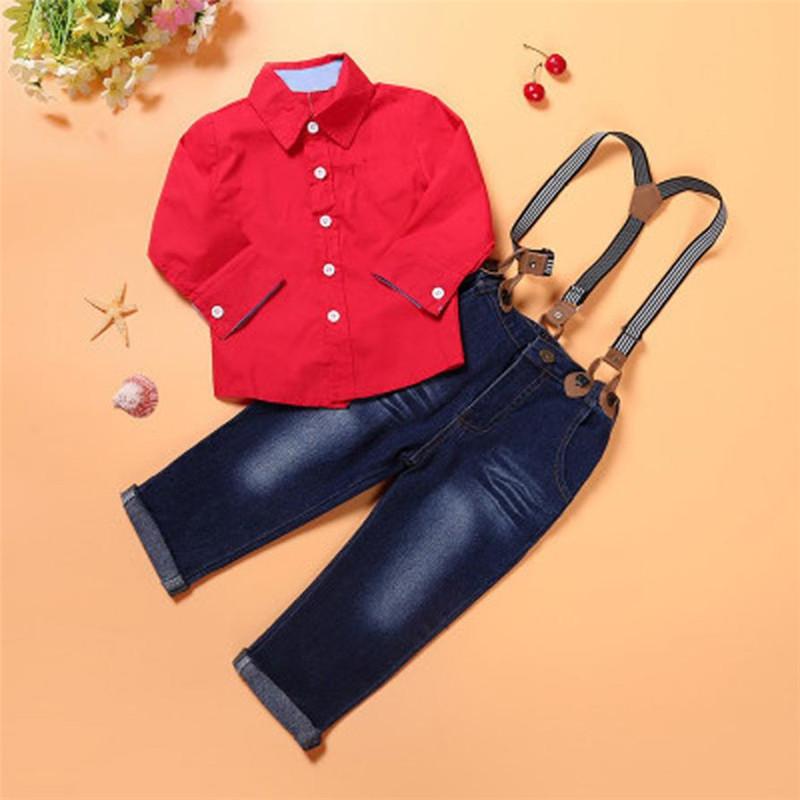Koszula chłopięca czerwona