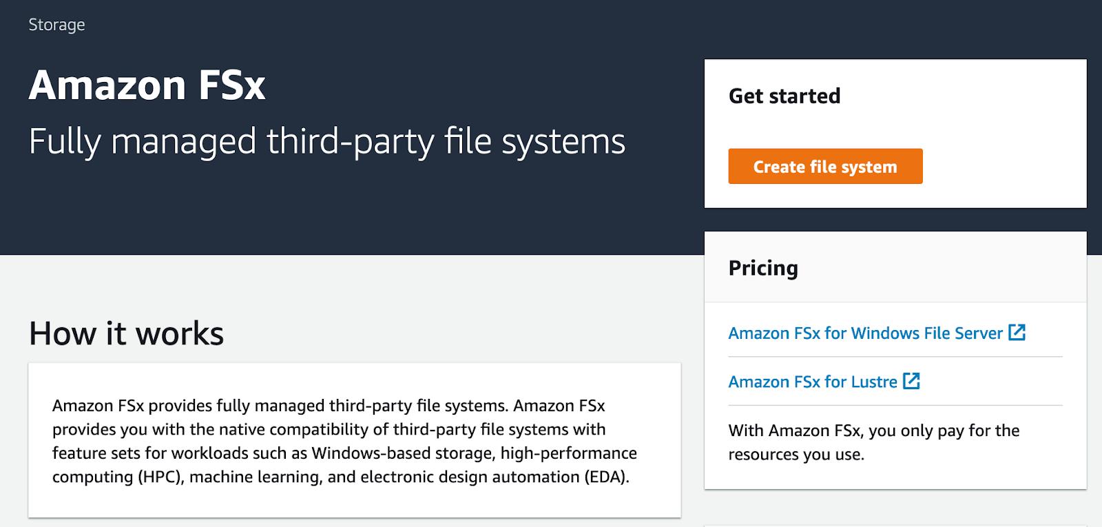Amazon FsX