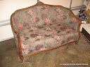Antique Loveseat - before