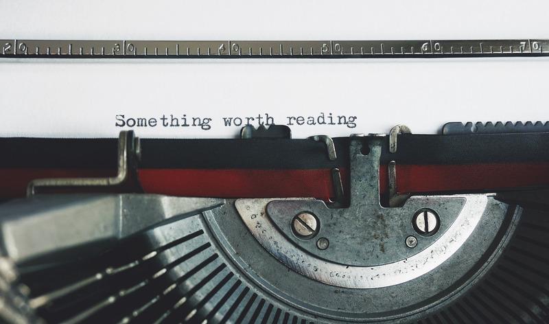 typewriter that says something worth reading
