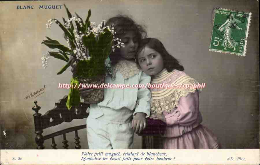 A Silly Lily - French May Day Vintage Postcards