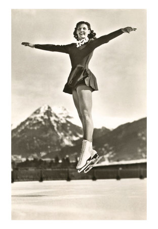 Vintage Ice Skating Beauty