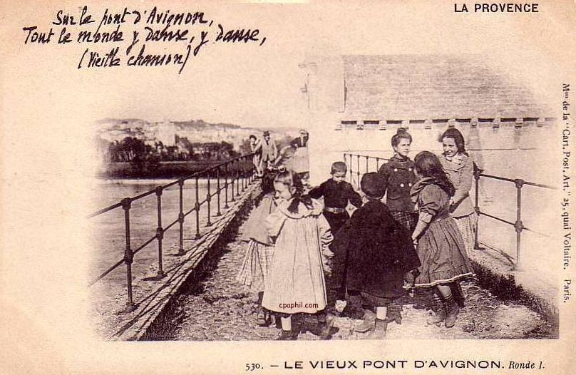 Humming Sur Le Pont D Avignon Postcard For Reader