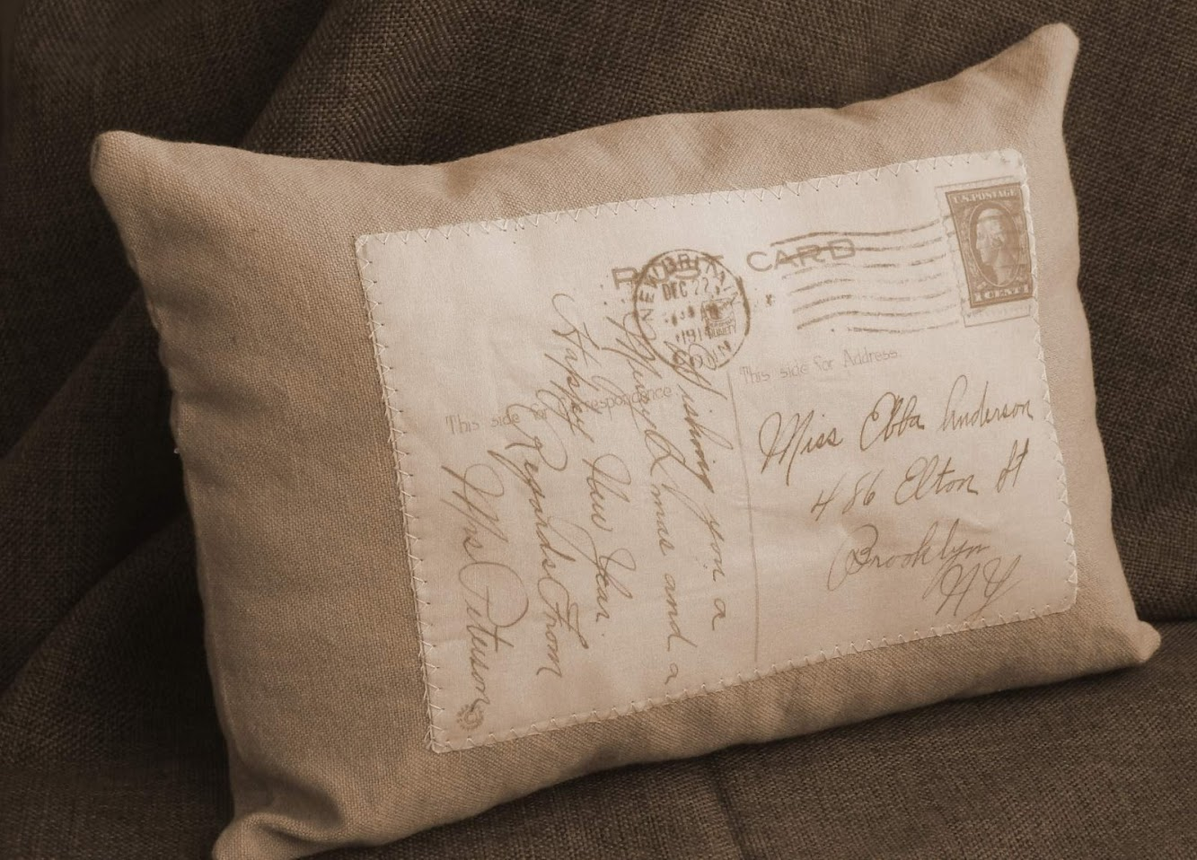 Vintage Postcard Pillow!