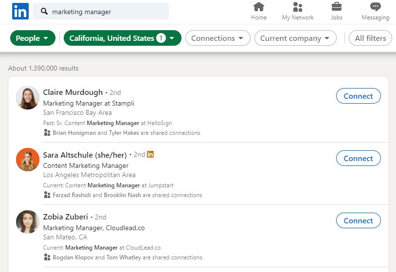 Audiense blog - segmenting by job title Linkedin