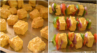 Paneer Tikka in Oven Step2