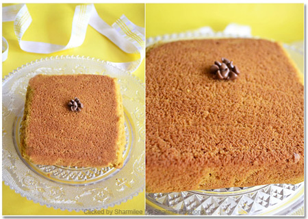 Eggless Custard Powder Snack Cake Recipe