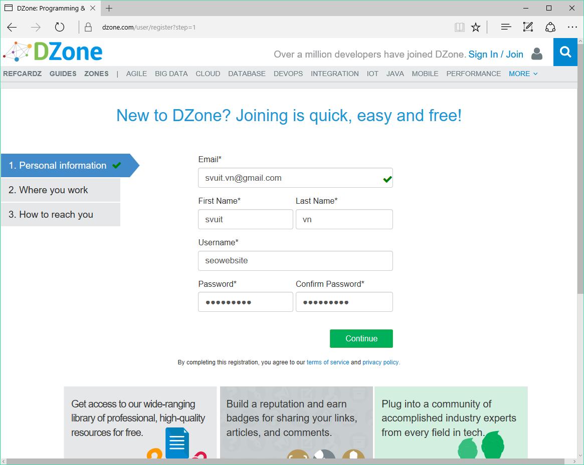 Backlink trên dzone.com(3)