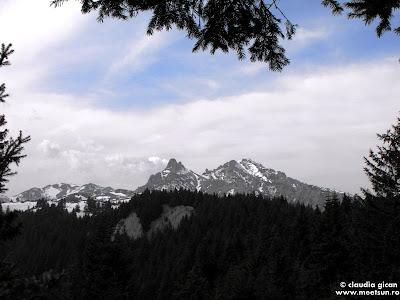 Varful Ciucas vazut de pe Muntele Chirusca