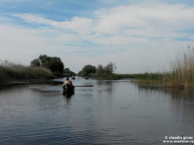 cu barcile cu vasle in delta dunarii