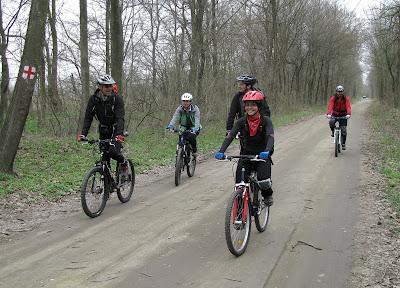 Cu pinguinii pe bicicleta in padure la Comana