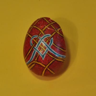 Acrylic on Egg's Shell