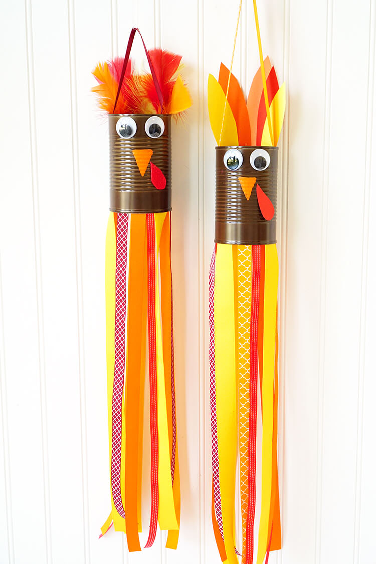 Turkey Windsocks: These 25 Thanksgiving Crafts for Kids will get everyone into the thanksgiving spirit.