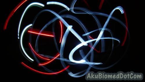 Corak sfera dua warna dengan Light Graffiti