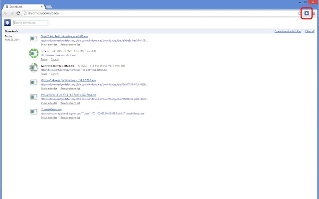 My Downloads chrome extension