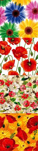 Birbirinden güzel çiçek vectorleri