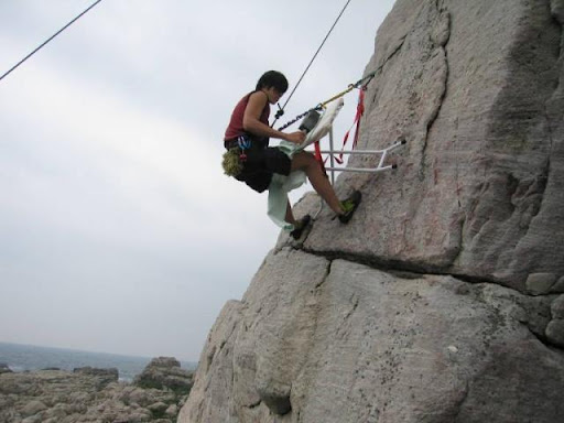 Extreme Ironing From A Mountainside