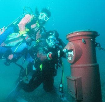 Post-Box Underwater
