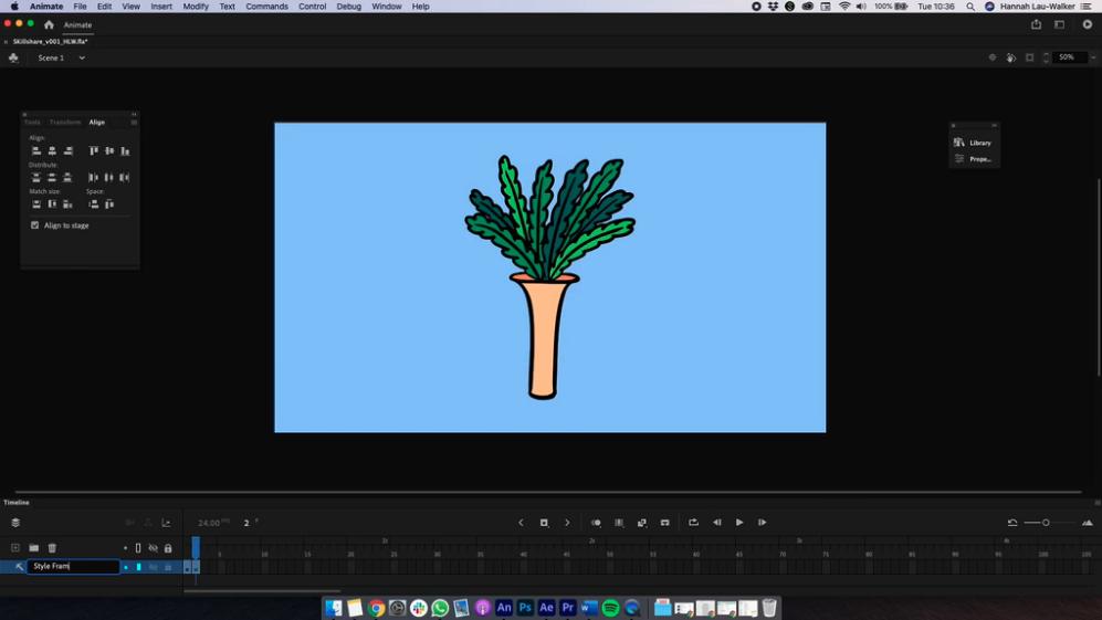 adobe animate of plant