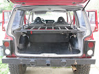 XJ with Dirt Bound Offroad's Interior Cargo Shelf