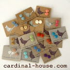Cardinal House handmade recycled fabric flower jewelry + accessories