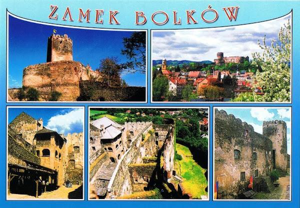 Zamek Bolków pocztówka