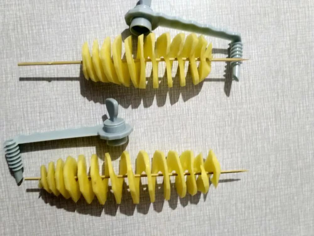Простое приспособление для спиральной нарезки