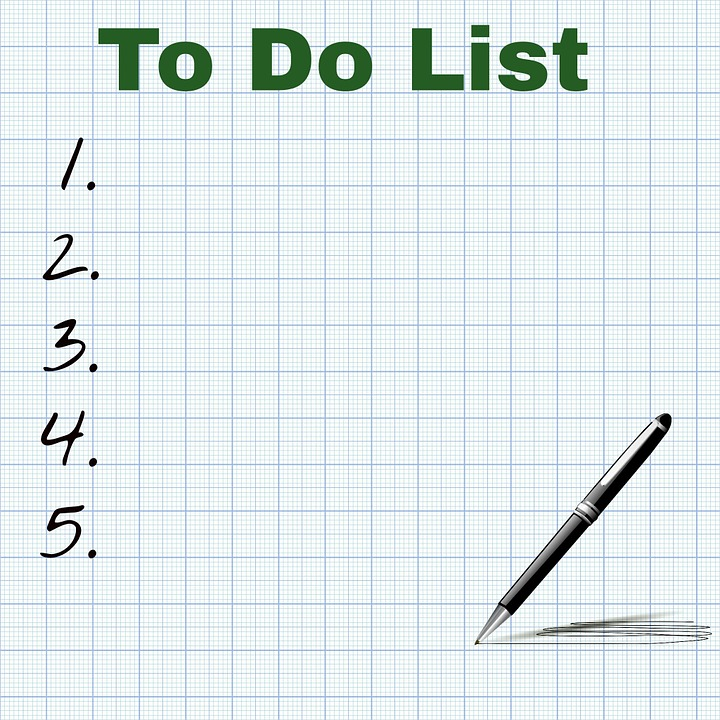 to-do list is one of the tips for motivation working at home