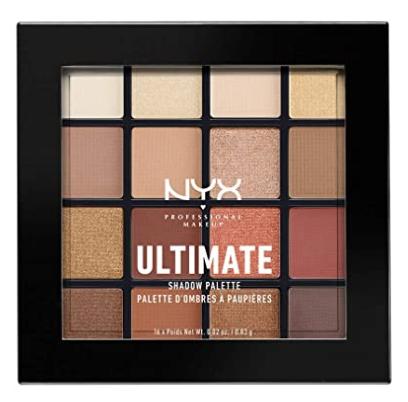 nyx ultimate eyeshadow palette in warn neutrals