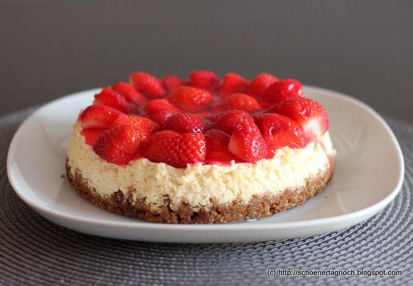 Kleine Sunde Erdbeer Frischkase Torte Schoner Tag Noch Food Blog