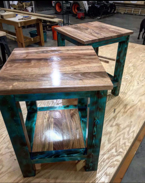 A picture containing table, floor, wooden, wood  Description automatically generated