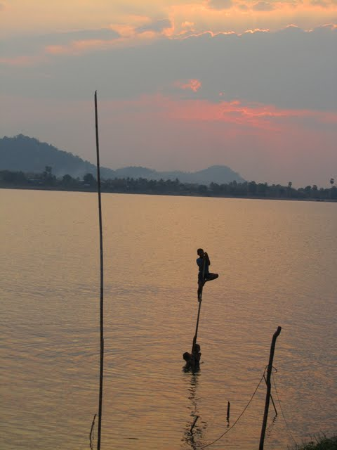 sunset Laos