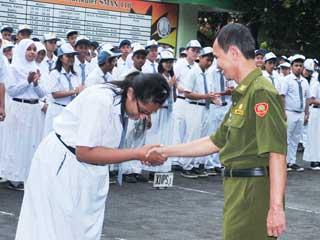 Kunjungan Kasudin dan Syukuran Peresmian Gedung SMA 110