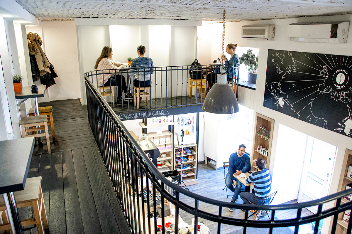 Budapest Baristas Cafe Interior