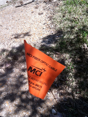 MCI fiber optic flag marker photo