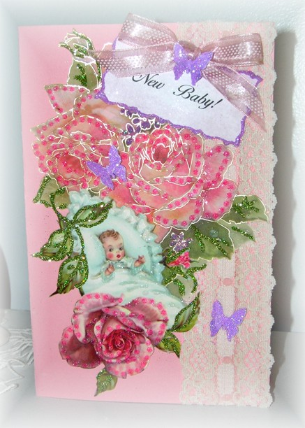 New Baby Handmade Greeting Card