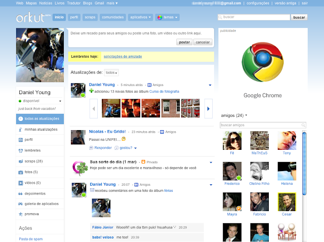 Orkut 3col homepage pt