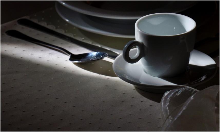 fourchette verre Coupe boisson Expresso tasse à café cuillère ustensiles de cuisine couteau tasse à thé restauration Plaques ustensiles de cuisine augmenter Photographies Cuillères à soupe