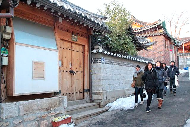 Bukchon Hanok Village houses a lovely artisan community