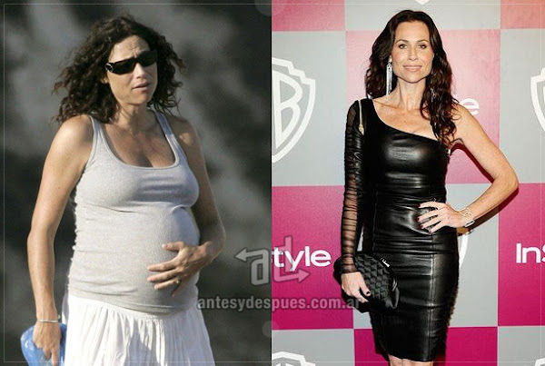 Antes y despues de Minnie-Driver embarazada