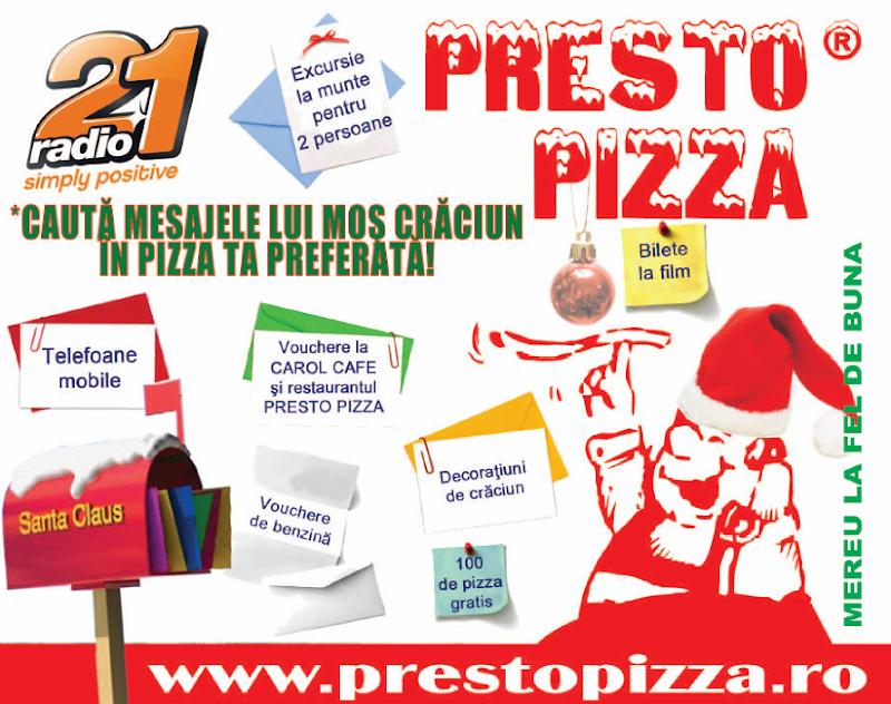 Concurs cu premii de la Presto Pizza