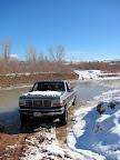 Crossing the San Rafael River at Fuller Bottom
