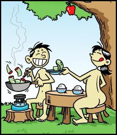 adaoeva chineses E se Adão e Eva tivessem sido chineses?