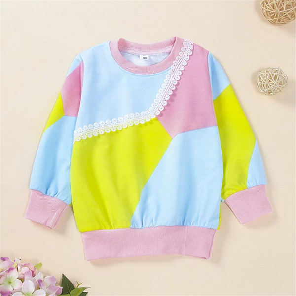 Toddler Girl Blocking Color Sweatshirt from BabyOutlet