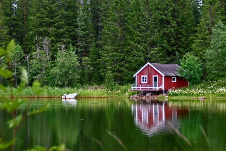 Фиксирую желание: домик в лесу у водоема: sicheslavets — LiveJournal