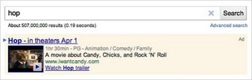 Video PPC appearing on SERP