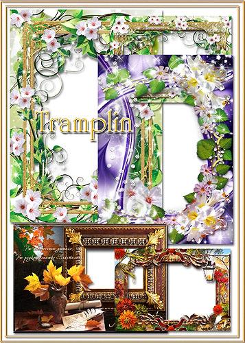 Сборник рамок для фото – И цветы и листья